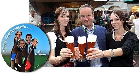 Wirbel um Politiker als Flaschenköpfe (Bild: Markus Tschepp)