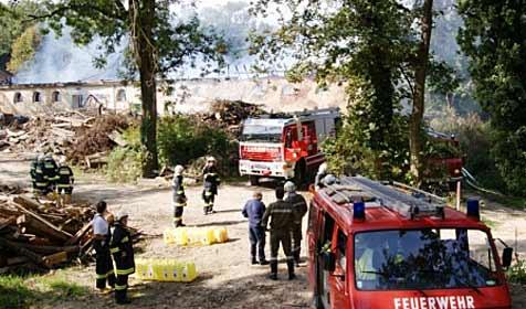Brand in Lager von Hackschnitzelanlage in Dörfles (Bild: Freiwillige Feuerwehr Ernstbrunn)