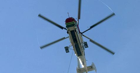 Knaus-Heli verliert bei Flug 600 Kilo schweres Betonteil (Bild: Christof Birbaumer)