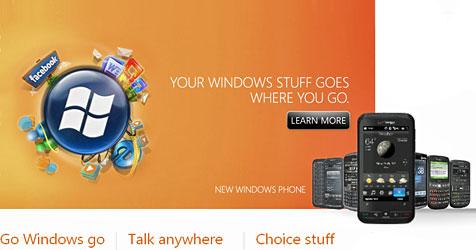 Microsoft startet Windows Mobile 6.5 samt App-Store (Bild: Microsoft)