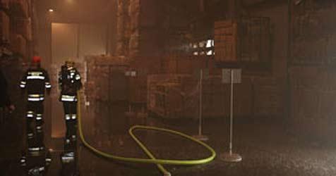 Riesige Rauchwolke weist Feuerwehr Weg zum Einsatz (Bild: FF Traun)