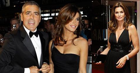 George Clooney zwischen Elisabetta und Cindy Crawford