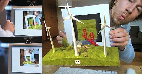 Erwecke ein Blatt Papier per Webcam zum Leben (Bild: ge.ecomagination.com)