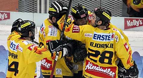 Meister Salzburg kassiert gegen Caps 1:7-Schlappe (Bild: APA-FOTO: HERBERT NEUBAUER)