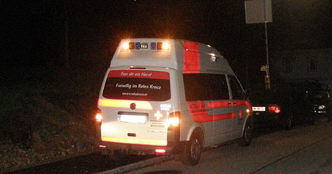 20-Jähriger  über sechs Meter hohe Mauer abgestürzt (Bild: FF Bad Ischl)