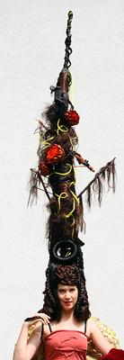 Linzer kreieren höchste Aufsteck-Frisur der Welt (Bild: APA)