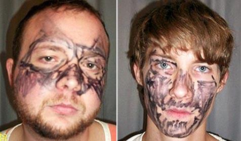 Dumme Einbrecher bemalten sich Gesicht mit Filzstift (Bild: AP)
