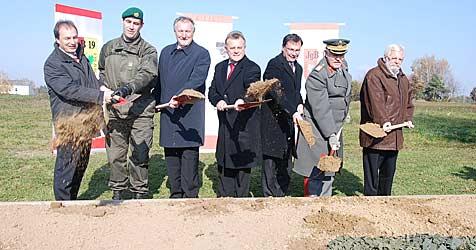Baustart für die Kaserne in Güssing noch heuer möglich (Bild: Christian Schulter)