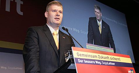 Sepp Leitner mit 93,13 Prozent wiedergewählt (Bild: APA/SPÖ-NÖ Herbert Käfer)