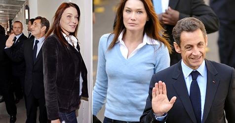 Carla Bruni-Sarkozy Pariser Gerüchten zufolge schwanger