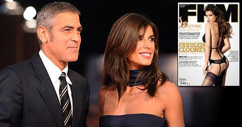 """George Clooneys """"Verlobte"""" zeigt sich in Unterwäsche (Bild: AFP, Rankin / Icon / FHM Dezember 2009)"""
