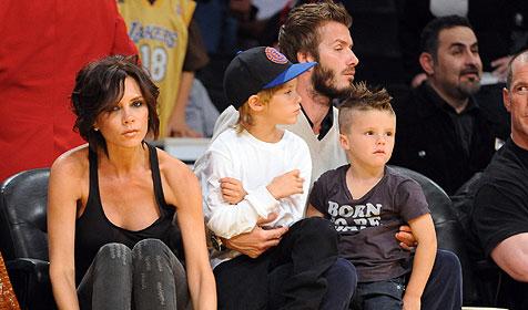 Victoria bringt ihren David und die Kids mit nach Österreich