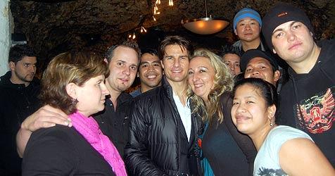 Tom Cruise kam auf einen Kurzbesuch in den Felsenkeller (Bild: Markus Tschepp)