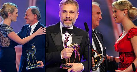 Gerührte Winslet und cooler Waltz bei Bambi-Verleihung