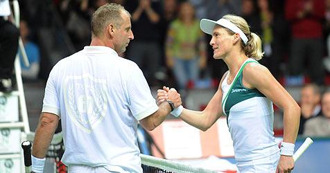 Muster gewinnt in Salzburg Arena klar gegen Bammer (Bild: Andreas Schaad)