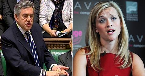 Britischer Premier Brown nennt Reese Witherspoon Renee