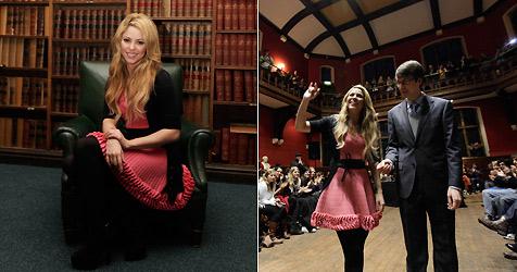 Sängerin Shakira hielt Vortrag vor Studenten in Oxford