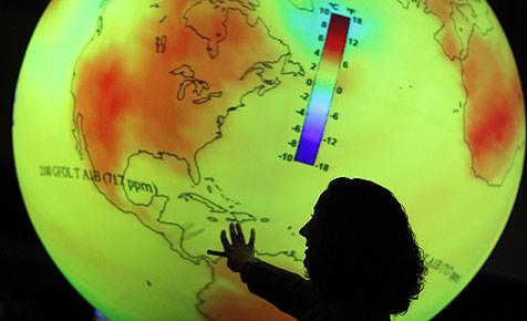 Eiszeit zwischen Grün und Blau wegen Klimawandel