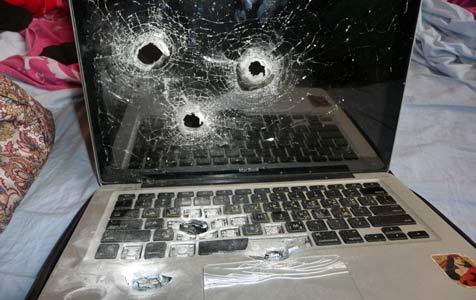 Israelische Grenzer erschießen MacBook