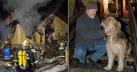 """Haus in Flammen - Hündin """"Aischa"""" rettet ihr Herrchen (Bild: Stefan Schneider)"""