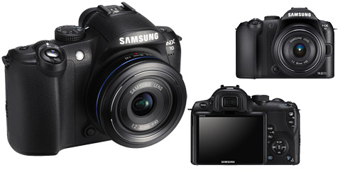 Kompaktkamera mit großem Sensor und Wechseloptik (Bild: Samsung)