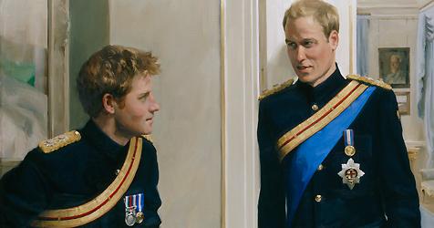 Fesches Porträt der Prinzen William und Harry im Museum