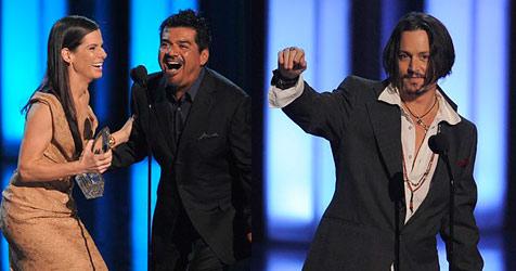 Sandra Bullock und Johnny Depp holen Publikumspreise