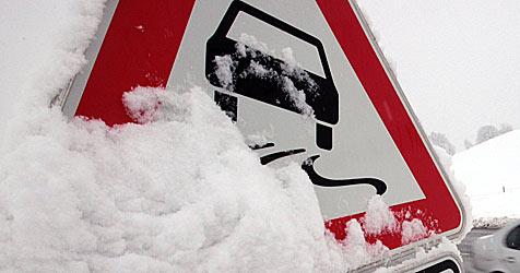 Hochwasser an der March, Neuschnee in Teilen von NÖ (Bild: dpa/A3542 Karl-Josef Hildenbrand)