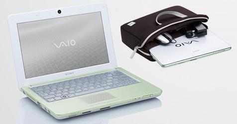 """Sony stellt """"grünes"""" Netbook mit Öko-Gehäuse vor (Bild: Sony)"""