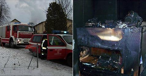 Zwei kleine Zündler steckten Polster an - und hatten Glück (Bild: Freiwillige Feuerwehr der Stadt Laakirchen)