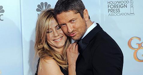 """Gerard Butler turtelt bei den """"Globes"""" mit Jennifer Aniston"""