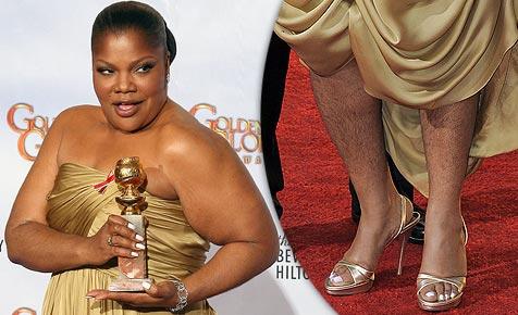 Golden-Globe-Gewinnerin mit behaarten Beinen (Bild: AFP)