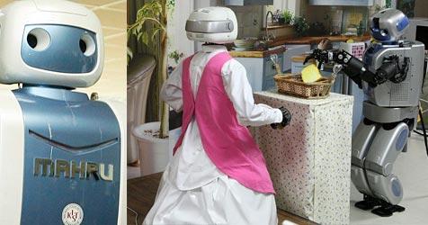 Putz-Roboter aus Südkorea wäscht und räumt auf (Bild: EPA/AFP)