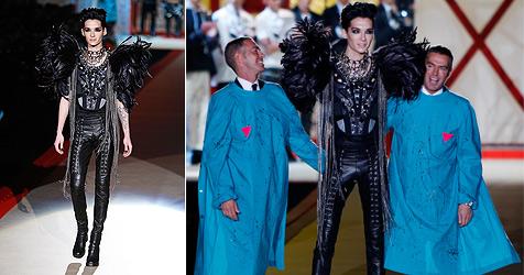 Tokio-Hotel-Sänger  Bill Kaulitz  modelt in Mailand