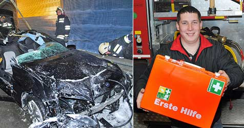 Feuerwehrmann in Zivil rettet Mann das Leben (Bild: Franz Crepaz)