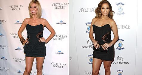 Jennifer Lopez im gleichen Kleid wie Klum erwischt