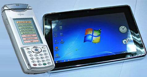 """Alles nur geklaut? Das sind die """"echten"""" iPads (Bild: AFP/ Fujitsu)"""
