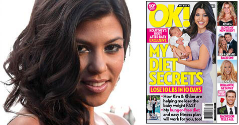 "Wütende Kourtney Kardashian: ""Fotos wurden retuschiert"" (Bild: AP Photo, Cover Magazin ""OK!"")"