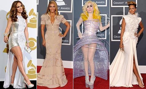 """Mal wieder """"gaga"""": Die schrillen Kleider der Grammy-Stars (Bild: EPA, AP)"""