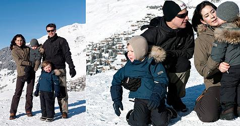Dänische Prinzessin Isabella schmollt im Schnee