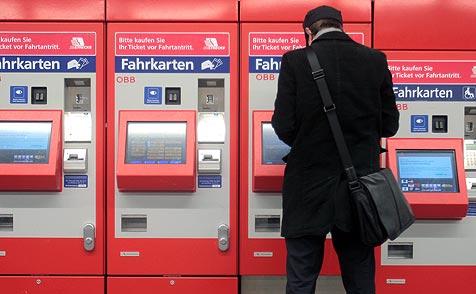 Fahrkartenautomat in Puch geknackt - 20.000 € Schaden (Bild: APA/GEORG HOCHMUTH)