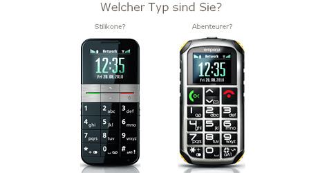 Linzer Emporia mit neuen Senioren-Smartphones (Bild: Emporia)