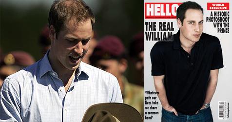 Prinz William auf einmal mit vollem, dunklem Haar