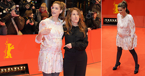 Amanda Peet  macht ihren Babybauch zum Star in Berlin