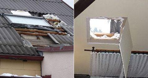 """Einbruch über das Dach - Opfer durch K.o.-Gas betäubt? (Bild: """"Krone"""")"""