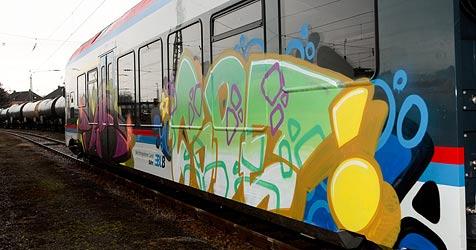 Wegen Graffitis auf Zügen: Security-Beamte engagiert (Bild: APA/Neumayr/MMV/Neumayr/MMV)