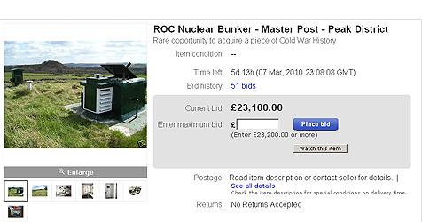 Atomschutzbunker wird auf eBay versteigert (Bild: Ebay.co.uk)