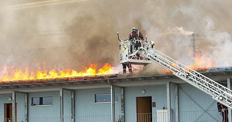 Großbrand in Mehrparteienhaus in Schallmoos (Bild: APA/Neumayr/MMV)