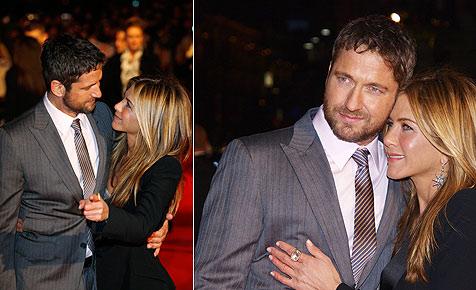 Butler und Aniston kuscheln sich durch Filmpremiere