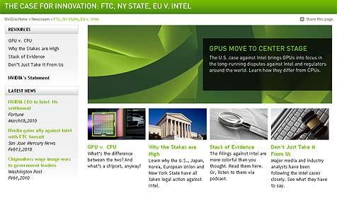 Nvidia stellt gegen Intel gerichtete Website online (Bild: Nvidia.com)